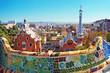 Leinwanddruck Bild - Park Guell in Barcelona. Barcelona - Spain