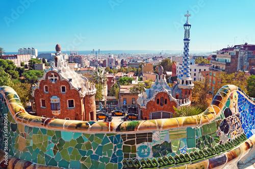 Park Guell in Barcelona. Barcelona - Spain - 36940064