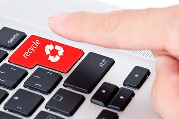 リサイクルボタンを押す瞬間