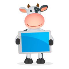 funny cartoon cow
