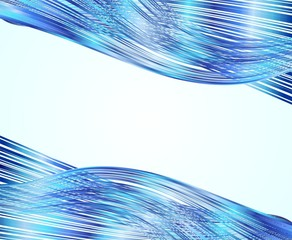 Onde Astratte Blu Sfondo-Abstract Blue Waves Background-Vector
