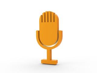 3d Icon Microphon orange