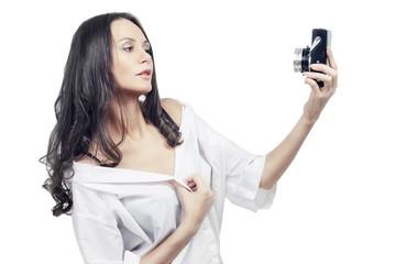 Beutiful photoshooting girl