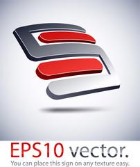 "3D ""S"" modern logo icon."