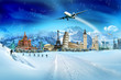 Travel - winter vacation, world monuments and mountains