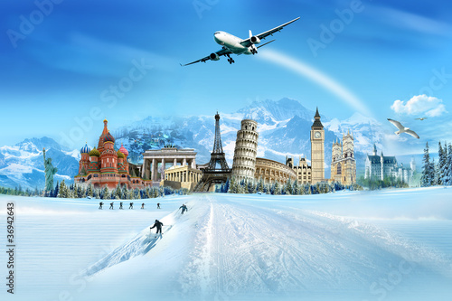 Poster Travel - winter season
