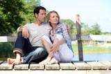 couple on pontoon