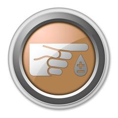 """Bronze 3D Style Button """"Diabetes"""""""