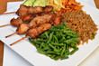 Chicken sate with fried rice
