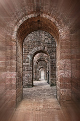 Basilica of Bom Jesus corridor