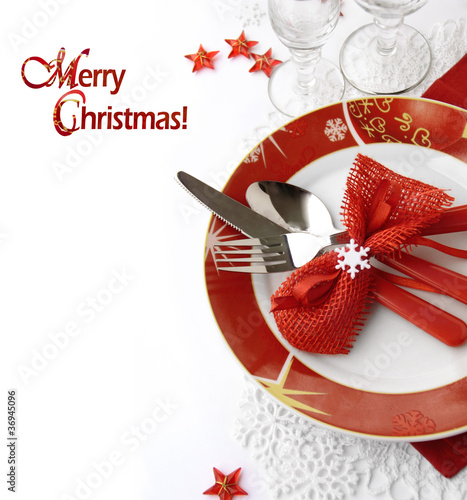 Papiers peints Table preparee Christmas table setting