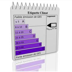Etiquette Climat Carnet