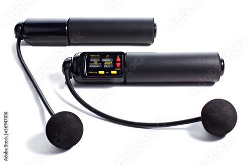 Black Electronic Jump Rope