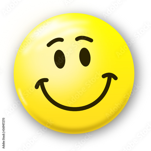 Smiley knallgelb