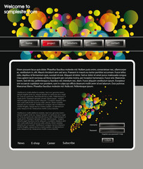 Web site design template 60