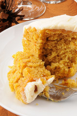 Slice of pumpkin cake