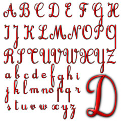 abc alphabet background cursive design