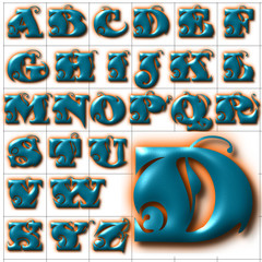 abc alphabet background fantastic font design