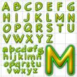 abc alphabet background veggie font design