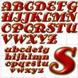 abc alphabet background antsy font design