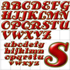 abc alphabet background antsy font design