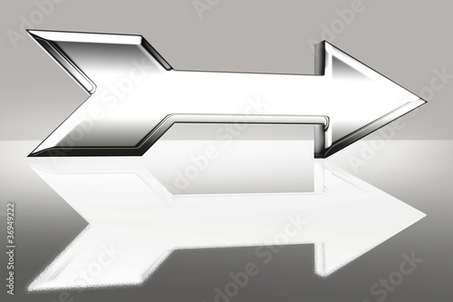 arrow 3D steel