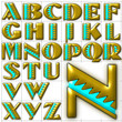 abc alphabet background bete noir font design
