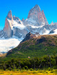 Landscape with Mt Fitz Roy in Patagonia, Argentina