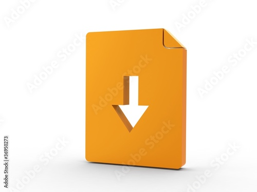 3d Icon Dokument orange