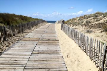 accès par la dune