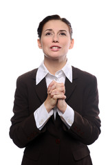 Business woman praying