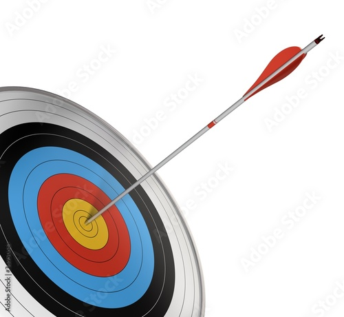 competition target with a red arrow