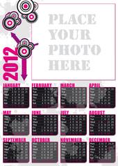 calendario 2012 in inglese con spazio per fotografia