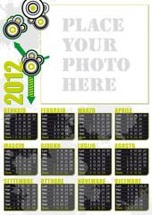 calendario 2012 in italiano con spazio per fotografia