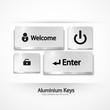 Vector aluminium buttons | keys