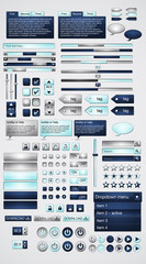 Megaset of web elements-vector file-easily customizable