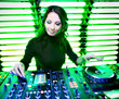 Attractive beautiful girl DJ