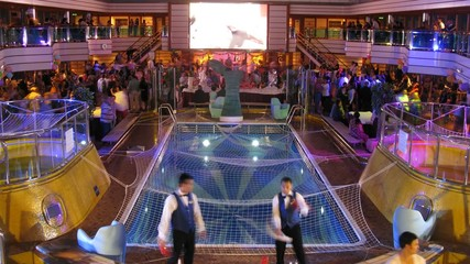 Flair bartending on board of cruise ship