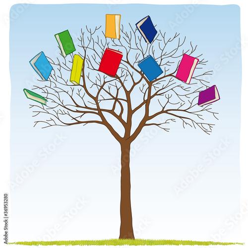 books on the tree