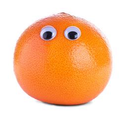 Orange grapefruit with eyes