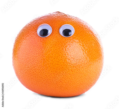 Orange grapefruit with eyes