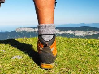 randonnée,montagne,sommet,paysage,chaussures