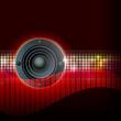 moderner hintergrund - lautsprecher in der disko