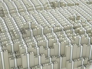 Many paks of dollars