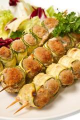 involtini di carne e zucchine
