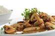 Schweinegeschnetzeltes mit Champignons und Reis