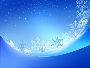 フレームと雪の結晶