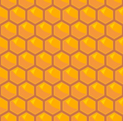 Abstract honeycomb square background  with orange tones