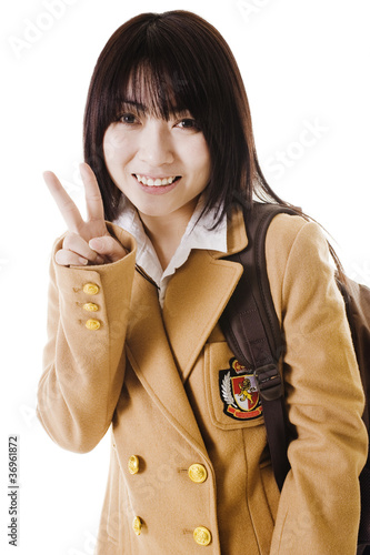 Chinese school girl portrait.