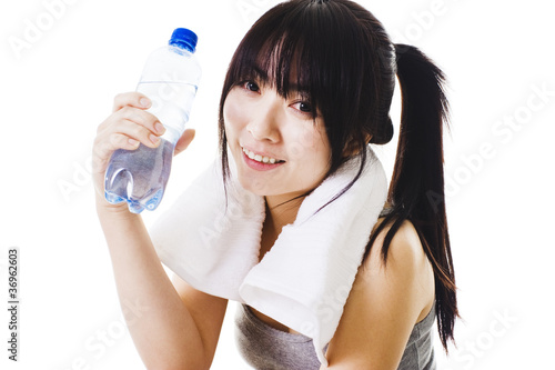 Chinese girl after a workout.